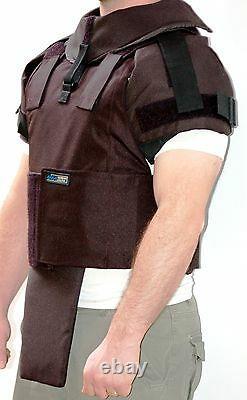External Ballistic Bulletproof Vest Body Armor Protection Level 3A Size L Black