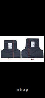 Front And Rear Ballistic Plates Inserts Fits Muircat Bulletproof Body Armor lllA