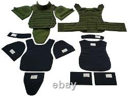 Green set Body Armor Gear Protection bulletproof Tactical vest, pads