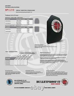 Hesco L210 10x12 Special Threat Plate BULLETPROOF IT, BRANDED