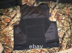Large Body Armor Bullet Proof Vest With Plates / panels level II NOS great