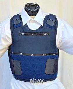 Large IIIA Lo Vis / Concealable Body Armor Carrier BulletProof Vest with Inserts