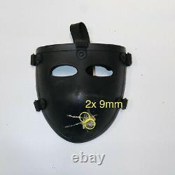 Level IIIA Ballistic Face Mask visor Bulletproof mask 1.1lbs see test video