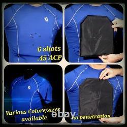 Level IIIA Bulletproof Compression Shirt (FRONT/BACK)