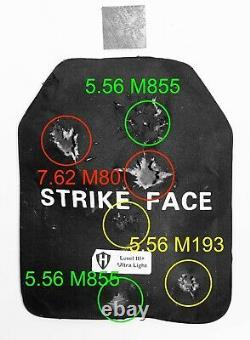 Level III+ Ultra Light ballistic plate, bullet proof body armor 4.5lbs & video