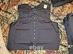 MEDIUM Body Armor Bullet Proof Vest With Plates / panels level II NOS great