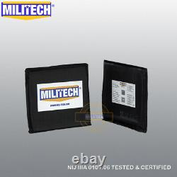 MILITECH NIJ IIIA 3A 10X12 STC & 6X6 Two Pairs Bulletproof Armor Panel Plate