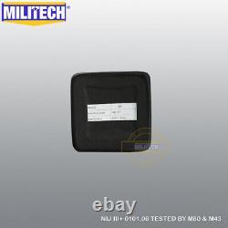 MILITECH UHMWPE NIJ Level 3+ III+ 6X6 Bulletproof Hard Armor Side Panel Pair Set