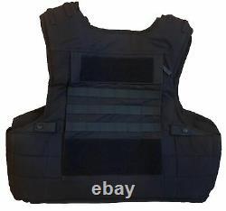Molle Tactical Black Hawk Body Armour Stab Vest Bullet Proof Grade A