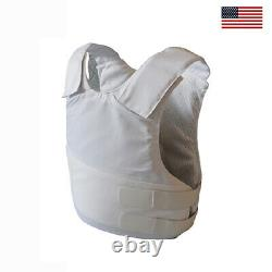NIJ Certified 3A Concealable with Kevlar Bulletproof Vest Body Armor Large