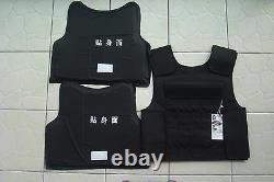 New Black Combat Tactical Soft Bullet proof vest IIIA NIJ0101.06 sizeLXL