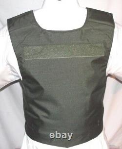 New Large Lo-Vis Plate Carrier Body Armor BulletProof Vest w Full IIIA Inserts