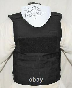 New Large Tactical Plate Carrier Body Armor BulletProof Vest Lvl IIIA Inserts