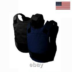 New NIJ Certified 3A w Kevlar Bulletproof Stab Resistant Vest Body Armor Large