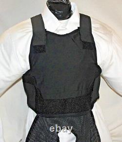 New XL Lo Vis Concealable Carrier With IIIA Inserts Body Armor BulletProof Vest