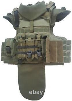 New set Full Body Armor Gear Tactical Vest 3 Grade prot. + bulletproof elements