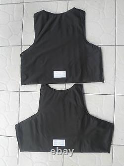 New type Black Combat Tactical Soft Bullet proof vest IIIA NIJ0101.06 SIZEL, XL