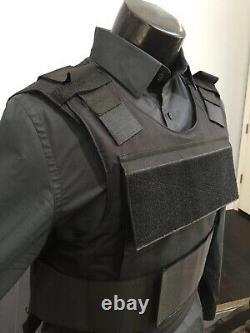 Plate Carrier Vest Bulletproof BODY Armor Made With Kevlar 3a Inserts USA