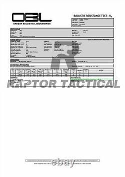 Raptor NIJ IIIA 3A 10x12 & 11x14 Inches Bulletproof Plate UHMWPE Ballistic Panel