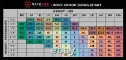 Safe Life Defense Level IIIA Body Armor Multi-Threat Bullet Proof Vest X-Large