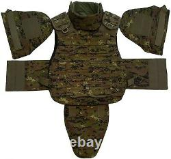 Set of Body Armor Gear Protection bulletproof Tactical vest & pad elements