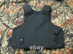 TACTICAL Body Armor Bullet Proof Vest Plate carrier w / panels level II+stab (L)