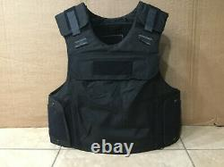 TAC Body Armor Bullet Proof Vest Plate carrier w / panels level IIIA + stab L