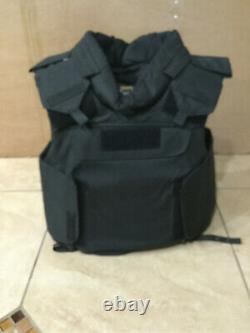 TAC Body Armor Bullet Proof Vest Plate carrier w / panels level IIIA + stab M^