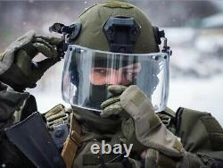 Tactical Ballistic Glass Visor Bulletproof Face Shield for TAC Helmet NIJ IIIA