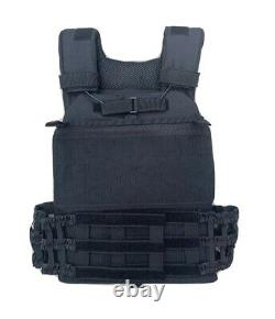 Tactical Vest With Curved Level 3 Bulletproof Plates