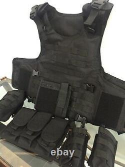 Tactical bulletproof vest FREE lllA body armor Insert Plates L XL 2XL