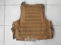 Tan Colour Combat Tactical Soft Bullet proof vest IIIA NIJ0101.06 SizeM