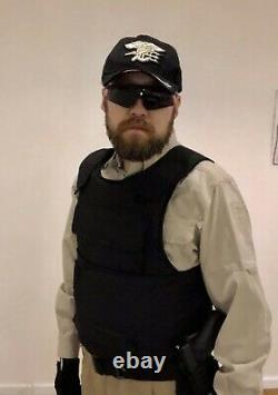 Tough Tactics Bullet Proof Vest NIJ Level IIIA Triple Protection Area