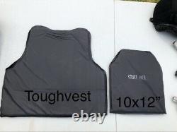 Tough Tactics Bullet Proof Vest NIJ Level IIIA Triple Protection Area Size L/XL