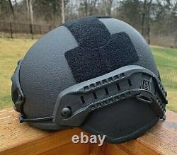 True NIJ IIIA Aramid Ballistic Bulletproof Helmet Bullet Resistant MICH (VIDEO)
