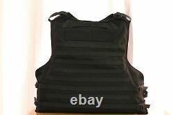 XLXXL New Black Combat Tactical Soft Bullet proof vest IIIA NIJ0101.06