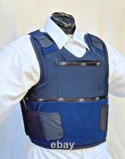 XL IIIA Concealable Body Armor Carrier BulletProof Vest with Inserts