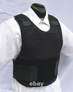 XL Lo Vis Concealable Body Armor Bullet Proof Vest Level IIIA Inserts Included