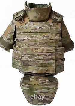 XL set Body Armor Gear Protection bulletproof Tactical vest & kevlarr elements