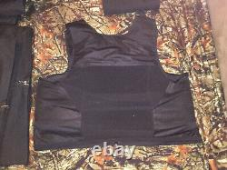 XX-Large Body Armor Bullet Proof Vest With Plates / panels level II NOS great