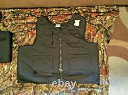 X-Large Body Armor Bullet Proof Vest With Plates / panels level II NOS great